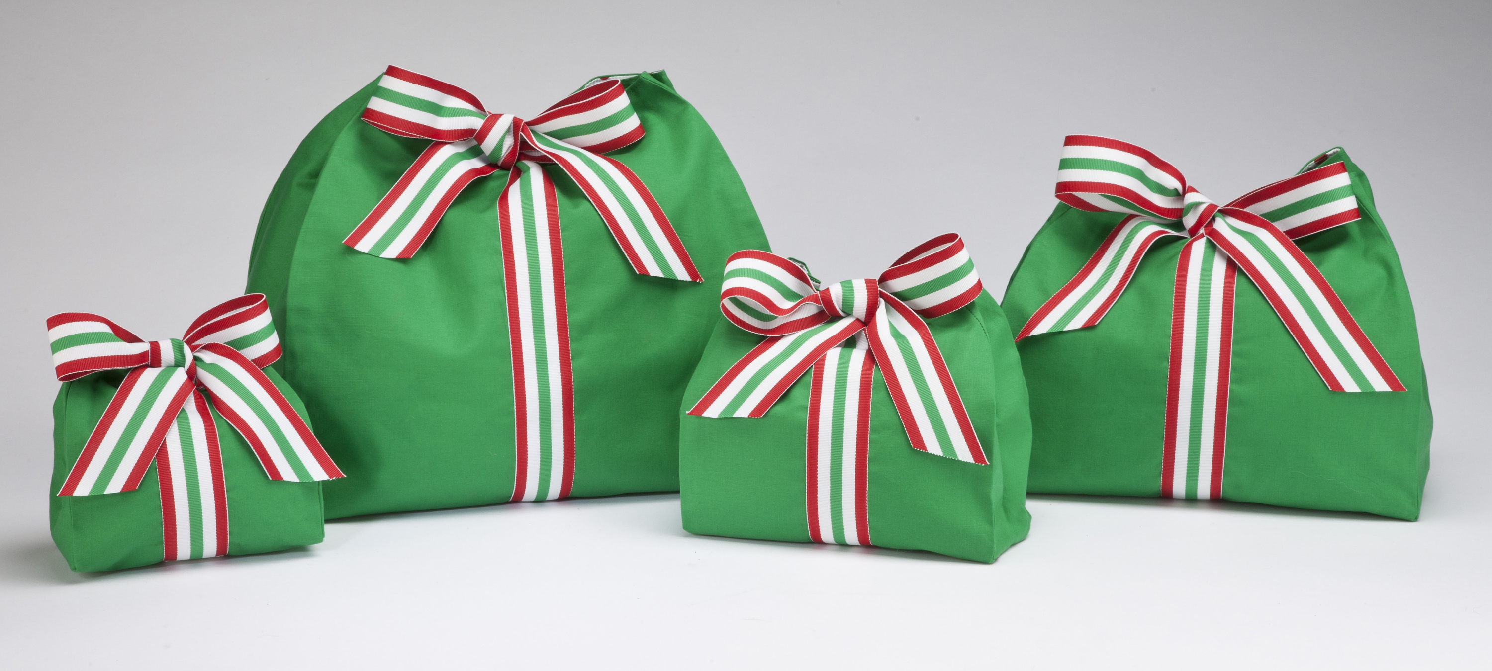 Kelly Green Stripe Bow Bags group shot (3)