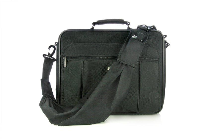 Black strap on bag - front view