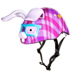 Raskullz - Bunny Helmet (purple plaid)