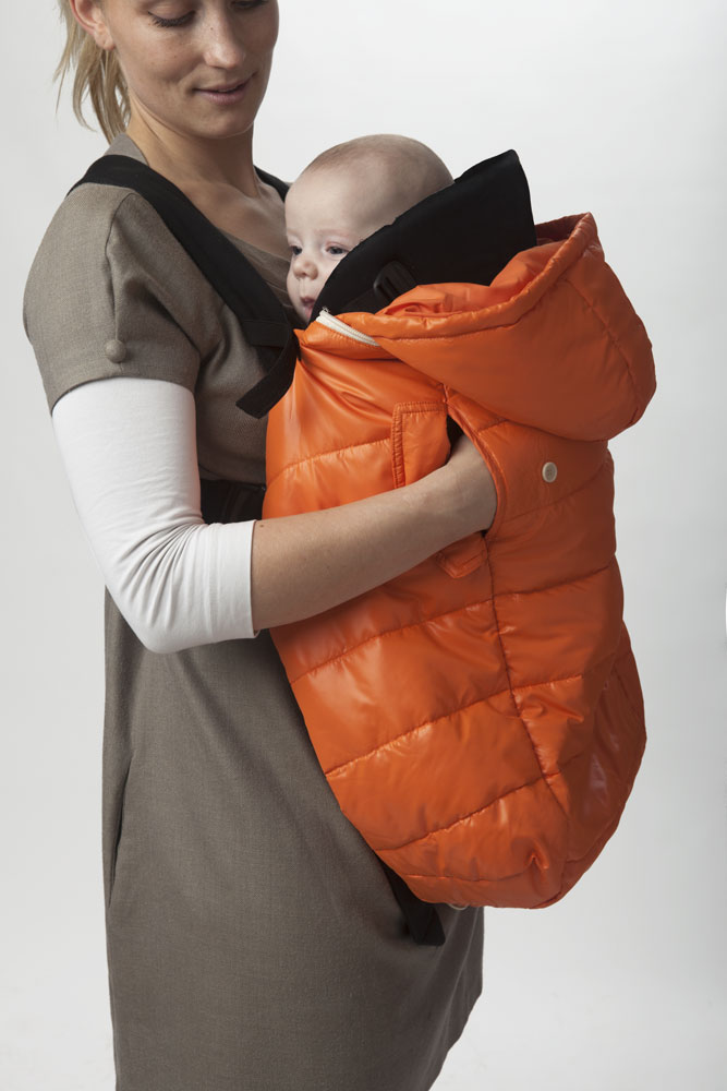 Pookie Poncho Orange Anna holding baby (2)