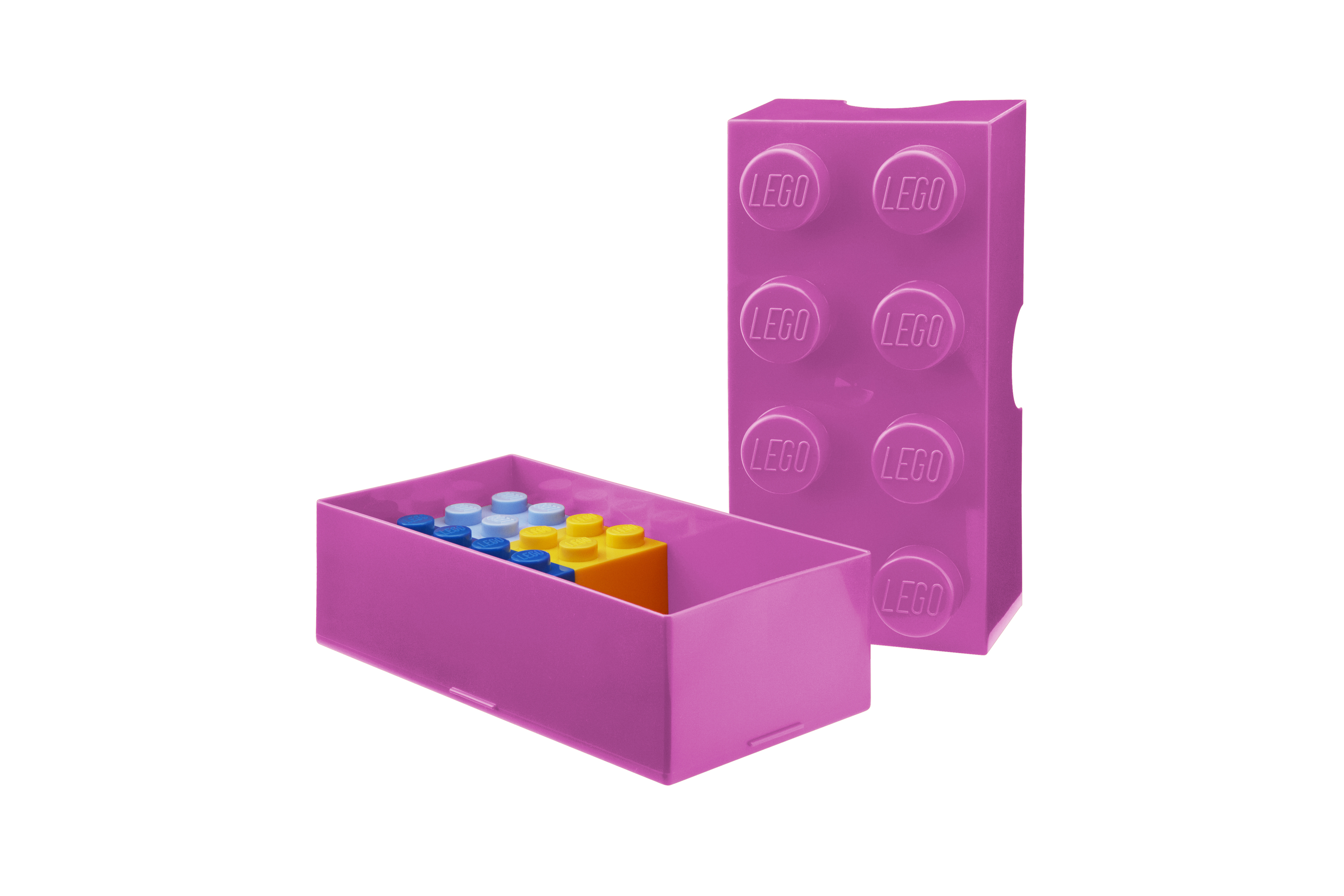 LEGO Lunch Box_bright purple_open e  mini boxes