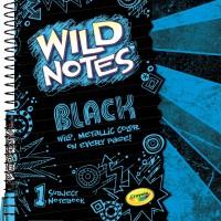 Crayola Wild Notes Black Notebook (2)