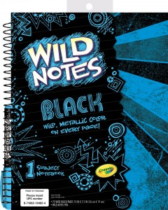 Crayola Wild Notes Black Notebook (2)