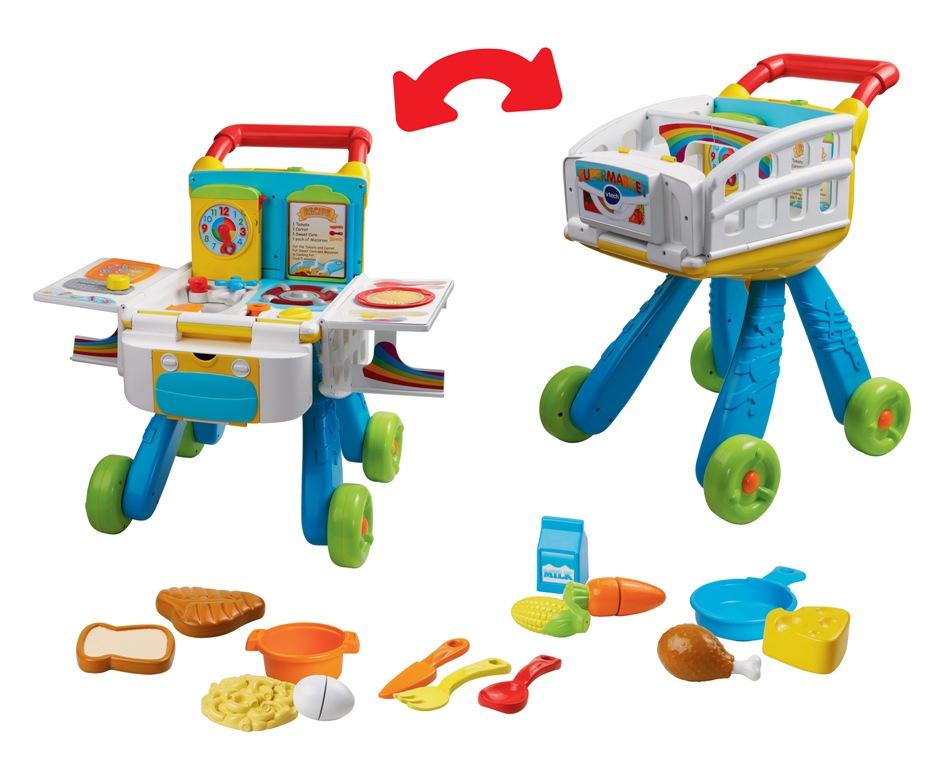 Space saving gourmet vtech 2 in 1 shop cook playset for 10 in 1 game table toys r us