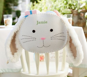 Furry Bunny Chair Backer $19 www PotteryBarnKids com