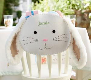 Furry Bunny Chair Backer $19 www PotteryBarnKids com